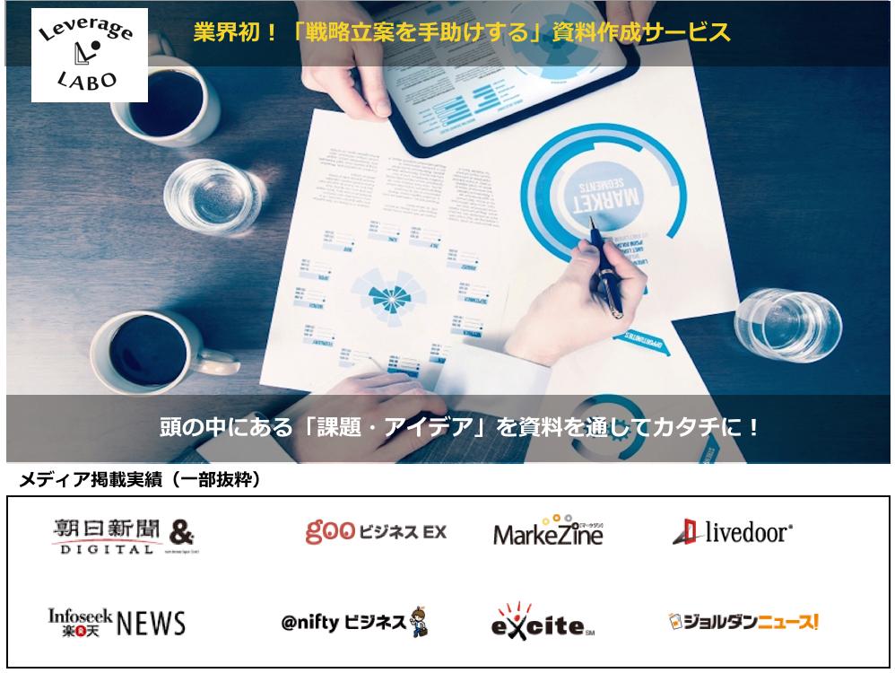 新サービス!業界初「戦略立案型」資料作成サービス開始のお知らせ